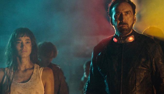 Sofia Boutella & Nicolas Cage in Prisoners of the Ghostland